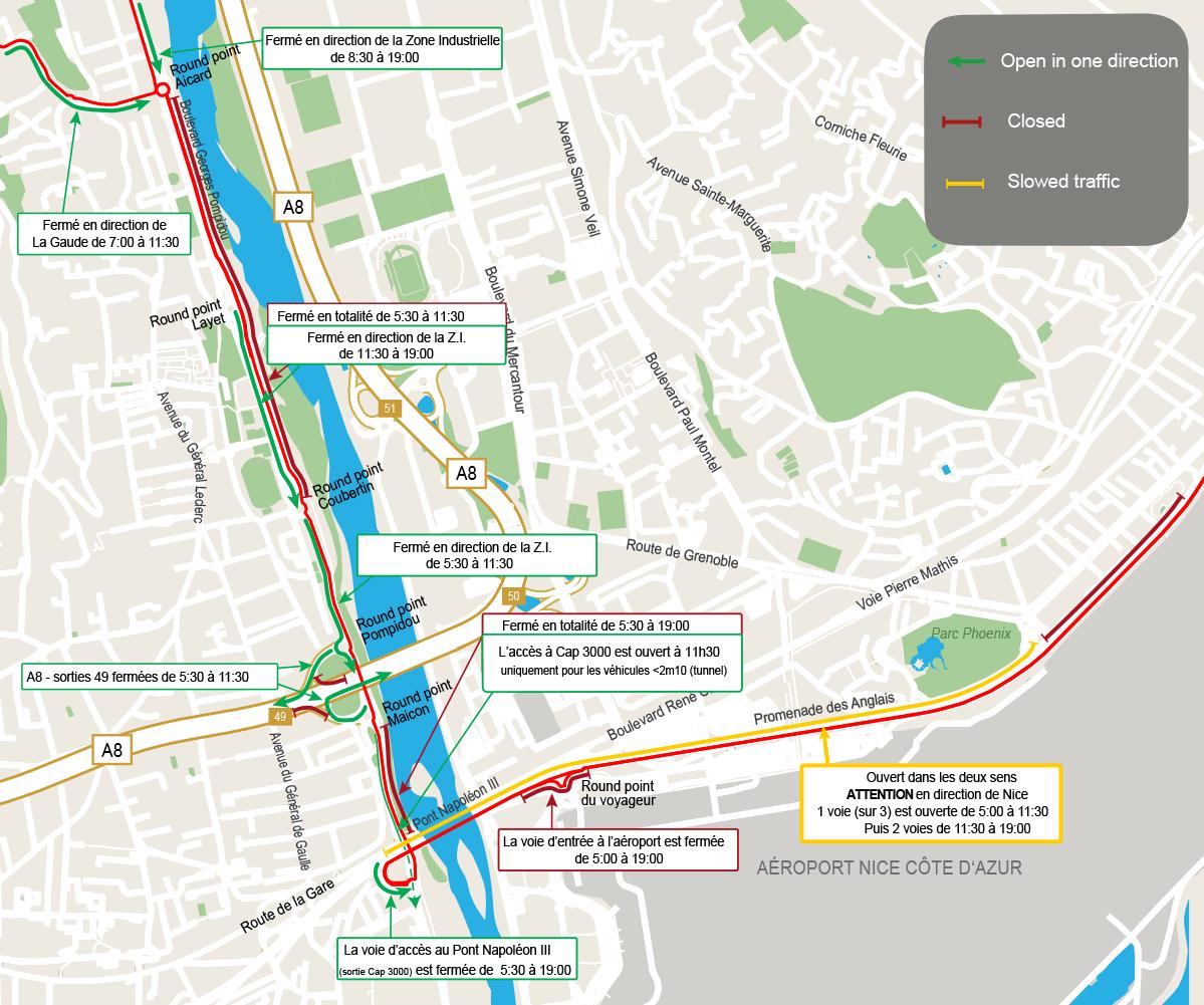 Plan circulation Ironman 2021