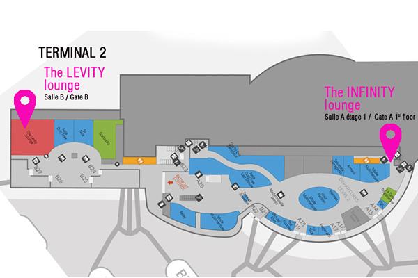 Plan salons VIP T2