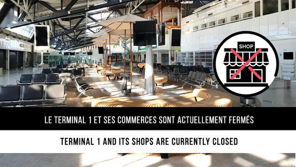 Boutiques- terminal 1 fermees
