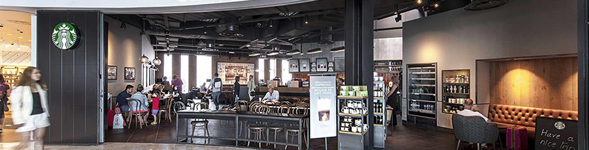 starbucks restaurants bars terminal 2 shops services la promenade nice airport. Black Bedroom Furniture Sets. Home Design Ideas